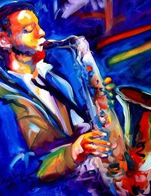Jazz en Lima / Cuadro: Marcia Baldwin